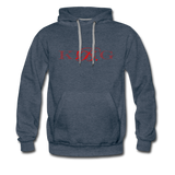 Graphic Fashion Brand Streetwear Unisex Hoodie -The Indy City- King B. - heather denim