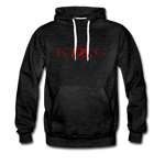 Graphic Fashion Brand Streetwear Unisex Hoodie -The Indy City- King B. - charcoal gray