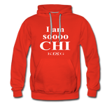 Graphic Streetwear So Chi Unisex Hoodie -The Indy City- King B. - red
