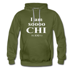 Graphic Streetwear So Chi Unisex Hoodie -The Indy City- King B. - olive green