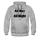 Streetwear, Workout All Day Unisex Hoodie - The Indy City - King B. - heather gray