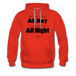 Streetwear, Workout All Day Unisex Hoodie - The Indy City - King B. - red