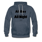 Streetwear, Workout All Day Unisex Hoodie - The Indy City - King B. - heather denim