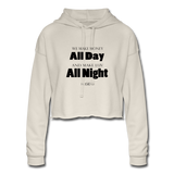 Streetwear,Fashion All Day Women's Cropped Hoodie - The Indy City - King B.Women's Cropped Hoodie - dust