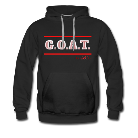 The Greatest of All Time Streetwear Short-Sleeve Unisex Hoodie -The Indy City- King B. - black