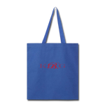 King B. Brand Tote Bag - royal blue