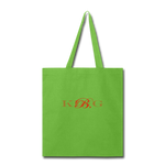 King B. Brand Tote Bag - lime green