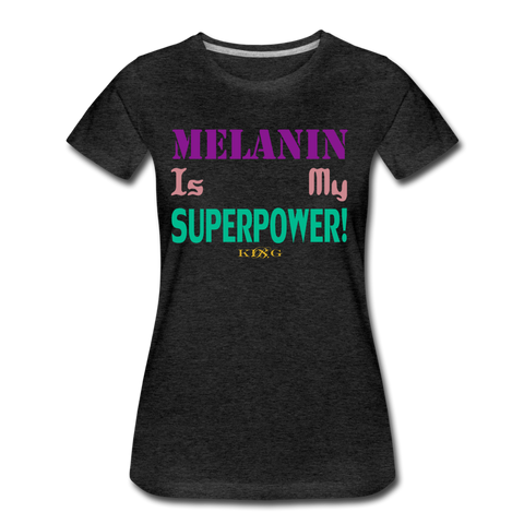 SuperPower Women's Premium T-Shirt - charcoal gray