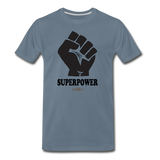 Superpower fist Premium T-Shirt - steel blue