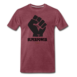 Superpower fist Premium T-Shirt - heather burgundy