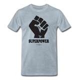 Superpower fist Premium T-Shirt - heather ice blue