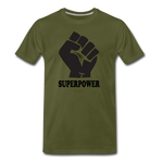 Superpower fist Premium T-Shirt - olive green