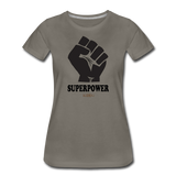 Superpower Women's Premium T-Shirt - asphalt gray