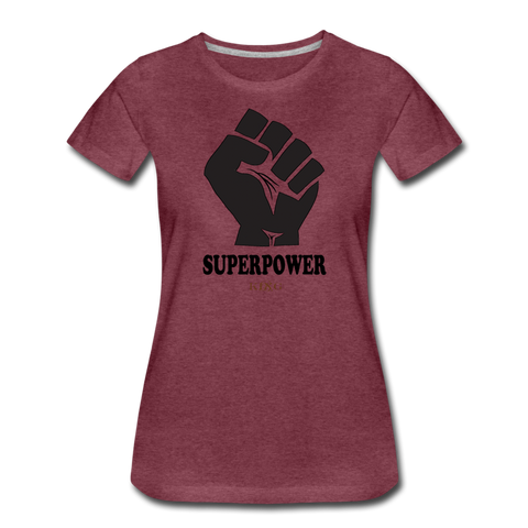 Superpower Women's Premium T-Shirt - heather burgundy
