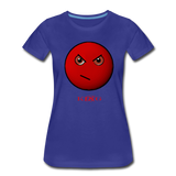 King B. Mad Emoji Women's Premium T-Shirt - royal blue