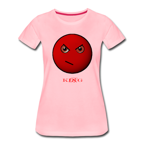 King B. Mad Emoji Women's Premium T-Shirt - pink