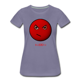 King B. Mad Emoji Women's Premium T-Shirt - washed violet