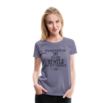King B Hustle Women's Premium T-Shirt - washed violet
