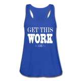 King B. Work Women's Flowy Tank Top - royal blue
