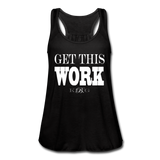 King B. Work Women's Flowy Tank Top - black