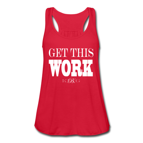 King B. Work Women's Flowy Tank Top - red