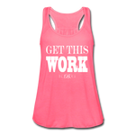 King B. Work Women's Flowy Tank Top - neon pink