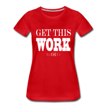 King B. Work Women's Premium T-Shirt - red