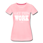King B. Work Women's Premium T-Shirt - pink