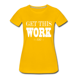 King B. Work Women's Premium T-Shirt - sun yellow