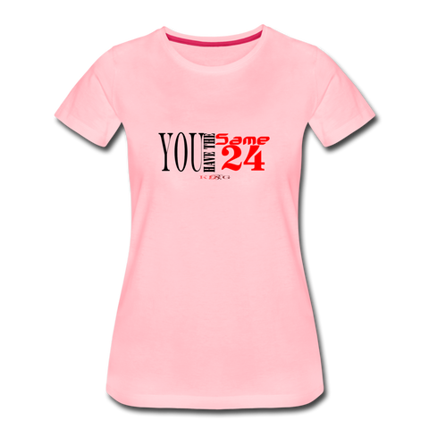 24 R&B Women's Premium T-Shirt - pink