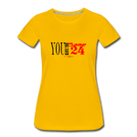 24 R&B Women's Premium T-Shirt - sun yellow
