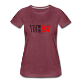 24 R&B Women's Premium T-Shirt - heather burgundy