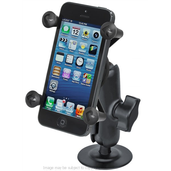 RAM X-Grip iPhone 6S Plus 5.5 Holder with Double Socket Arm and Flex Adhesive Mount RAP-B-378-UN7U (sku 32330)
