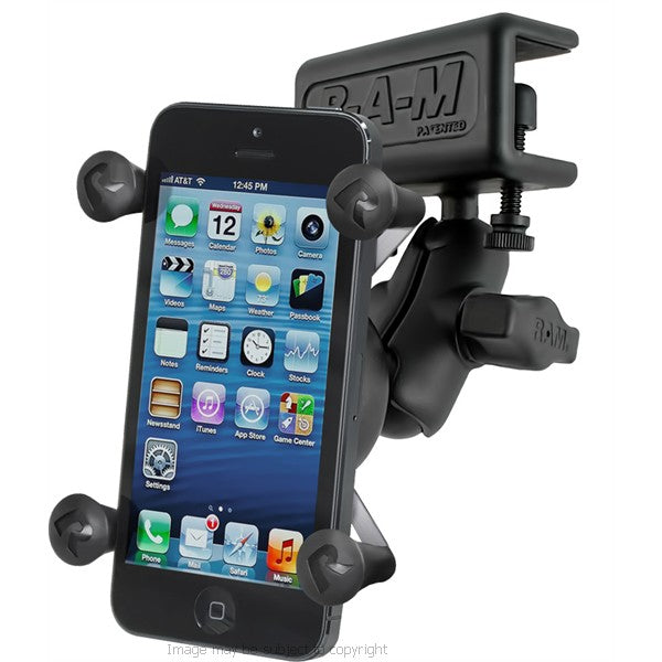 RAM X-Grip Holder Short Arm & Glare Shield Clamp Mount RAM-B-177-UN7 for iPhone 7 (sku 35492)
