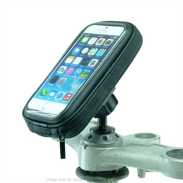 Waterproof 12mm Hexagon Hole Motorcycle Mount for iPhone 7 fits Honda Blackbird - Kawasaki (sku 45134)