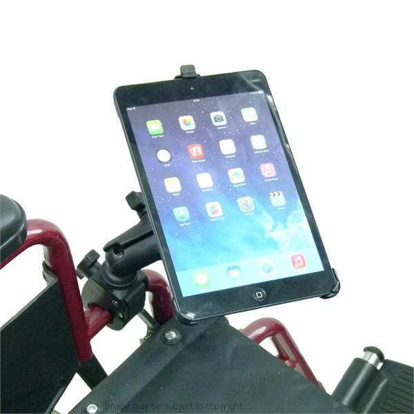 Dedicated Wheelchair Rail - Tube Mount for iPad Mini iPad Mini 2019 (sku 50604) - BuyBits Ltd UK
