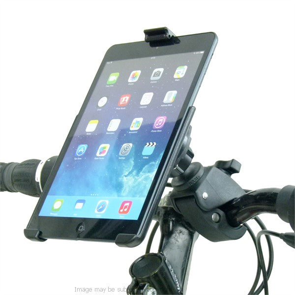 "RAM Model Specific Form-Fitted Cradle for iPad Mini with 1"" Rubber Ball Tough Claw Handlebar Mount (sku 21423)"