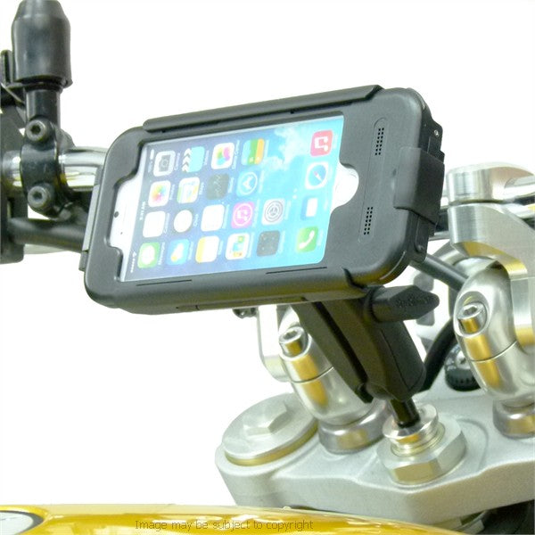 20.5-24.5mm Extended Motorcycle Stem Mount & TiGRA BikeCONSOLE Case for iPhone 7 (sku 45199)