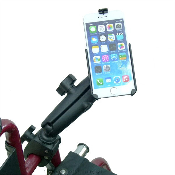 RAM Model Specific Cradle for iPhone 6S (4.7) with Long & Tough Claw Wheelchair Mount (sku 32158)