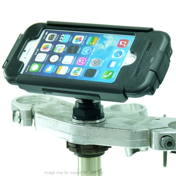 High power Hardwire Yoke 20 Motorcycle Yoke Nut Cap Mount and Tigra Case for iPhone 7 4.7 Screen (sku 45207)