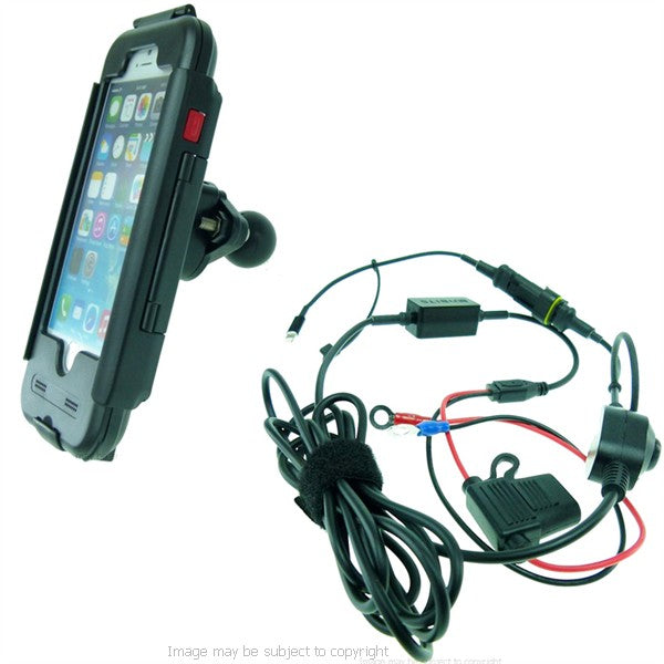 "High Power Hardwire TiGRA BikeCONSOLE Waterproof Tough Case & 1"" Ball for iPhone 6 (sku 21769)"