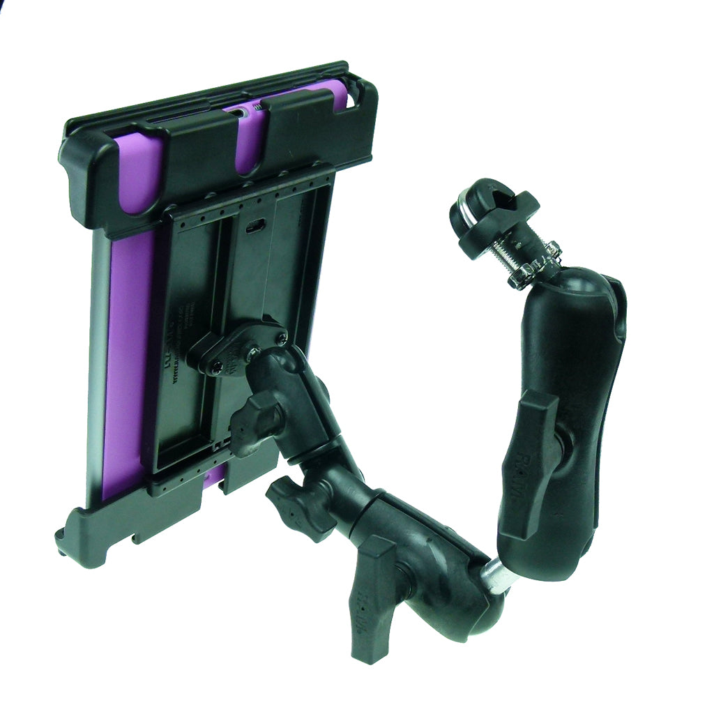 Wheelchair Rail - Tube Mount with Extension & Tablet Holder for Apple iPad PRO 9.7 (sku 34488)