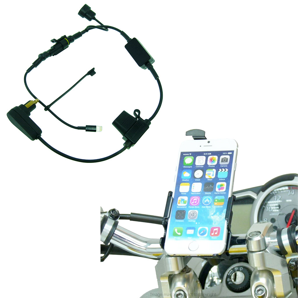 High Power Hella - DIN TC Motorcycle Handlebar Phone Pro Mount for Apple iPhone 7 4.7 (sku 45130)