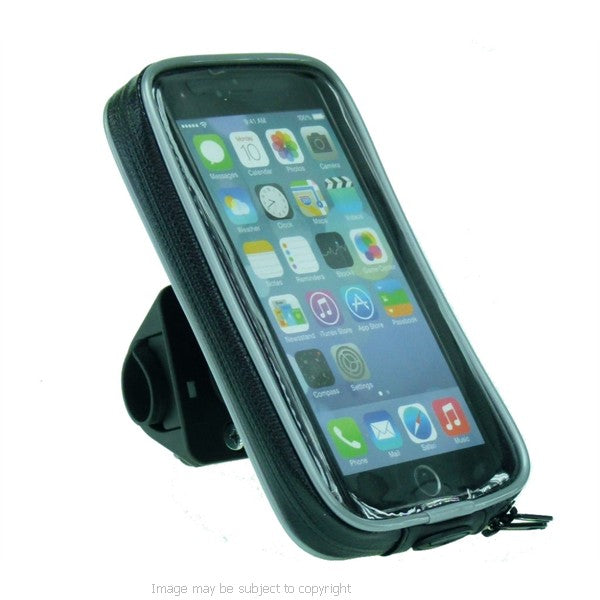High Power Hella - DIN Weather Resistant Motorcycle Handlebar Mount for iPhone 8 PLUS (sku 44541)