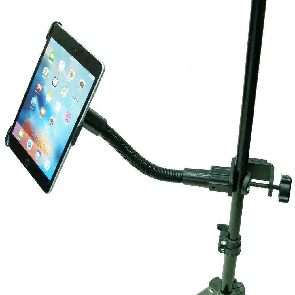 Dedicated Heavy Duty Music - Mic Stand Mount Tablet Holder for iPad Mini 2019 (sku 50579) - BuyBits Ltd UK