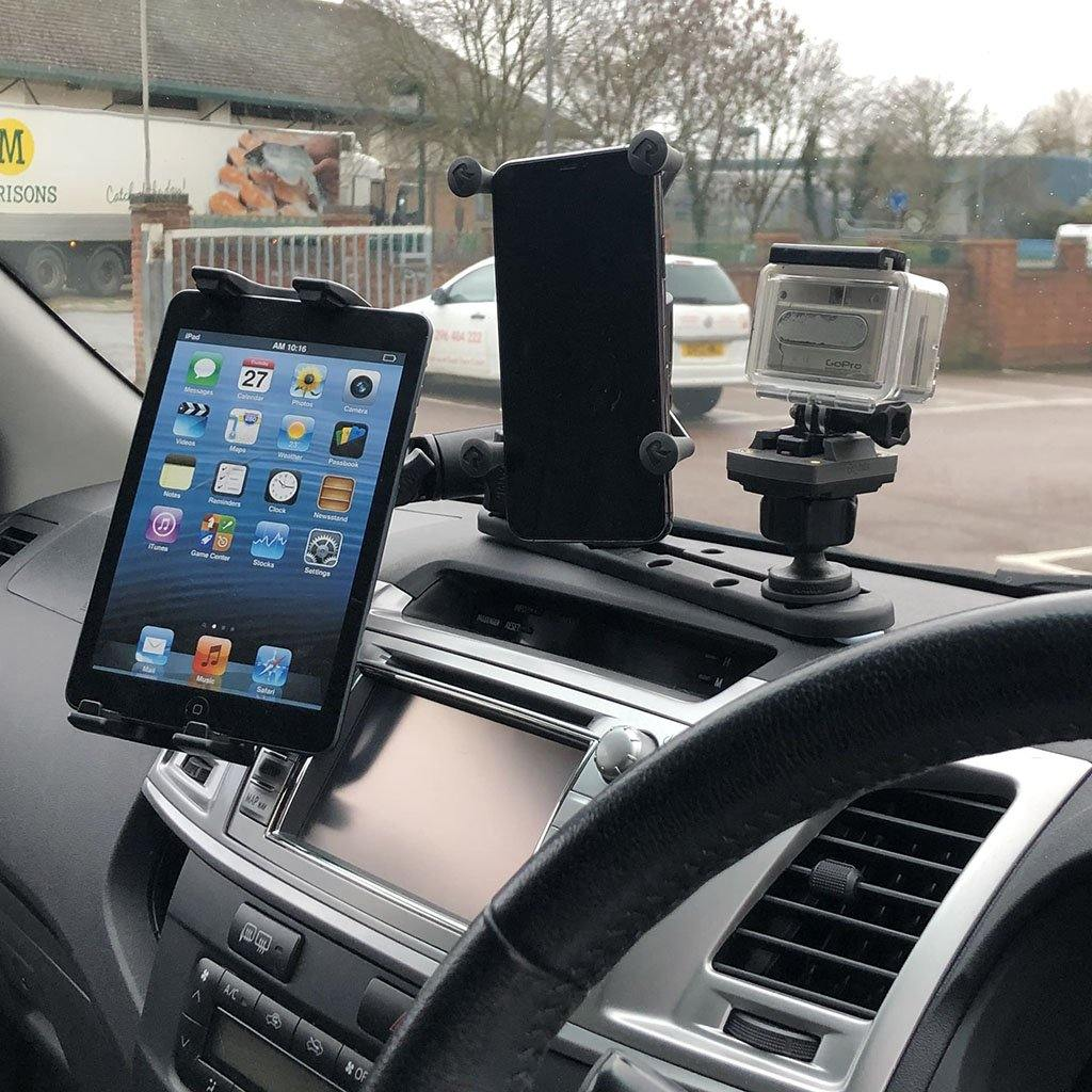 "5"" (12.7cm) Track Base with X Holder and Phone Holder for Fleet Lorries (sku 56083)"