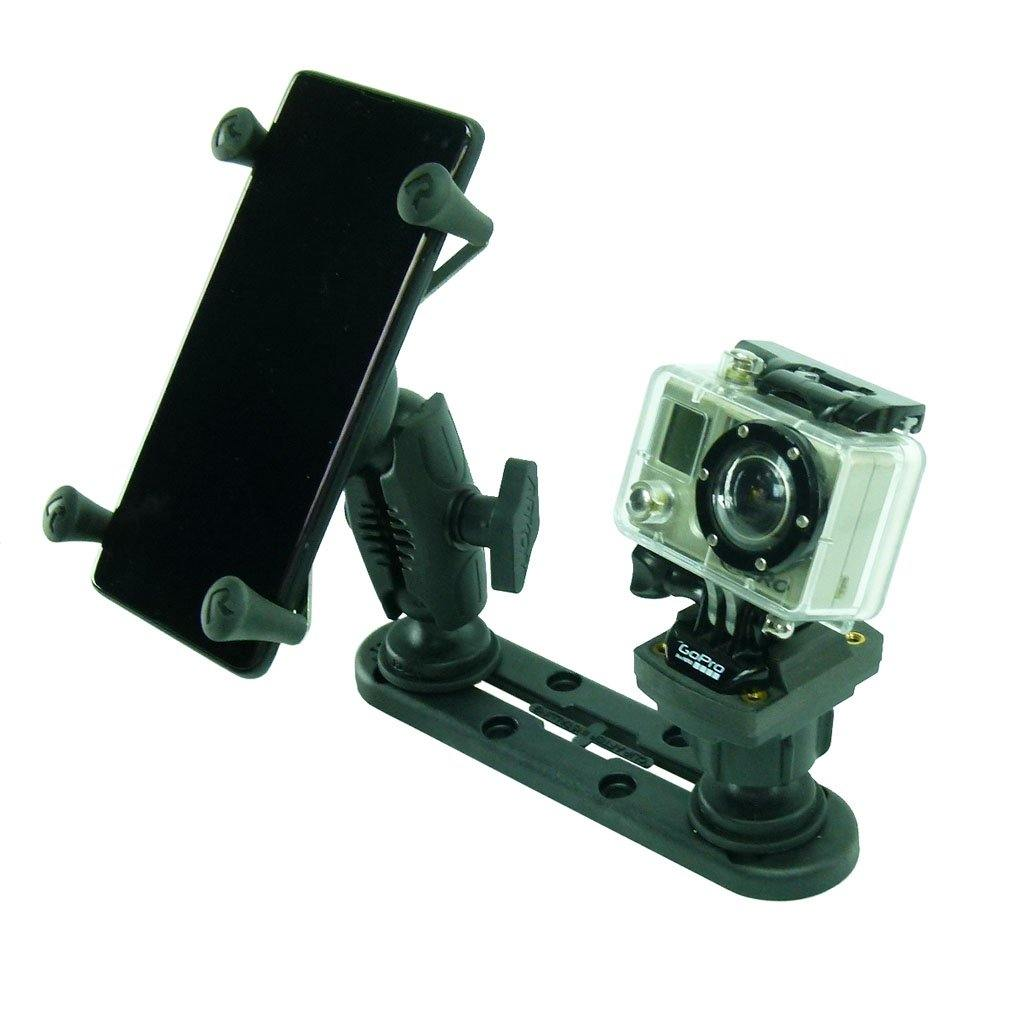 "5"" (12.7cm) Track Base with X Holder & Camera Adapter for Boat or Kayak (sku 56082)"