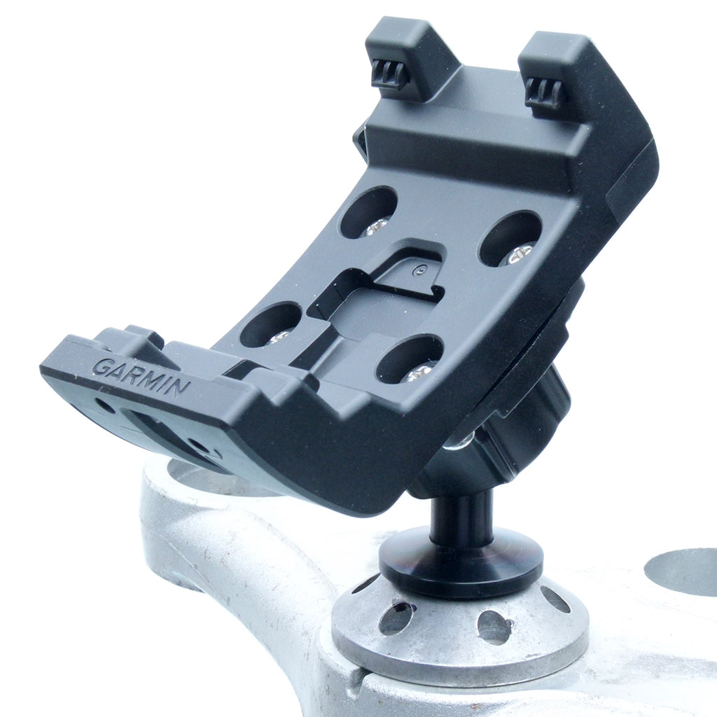 12mm Hexagon Hole Motorcycle Mount for Garmin Montana Series fits Honda Blackbird & Kawasaki Motorcycles (sku 57311)