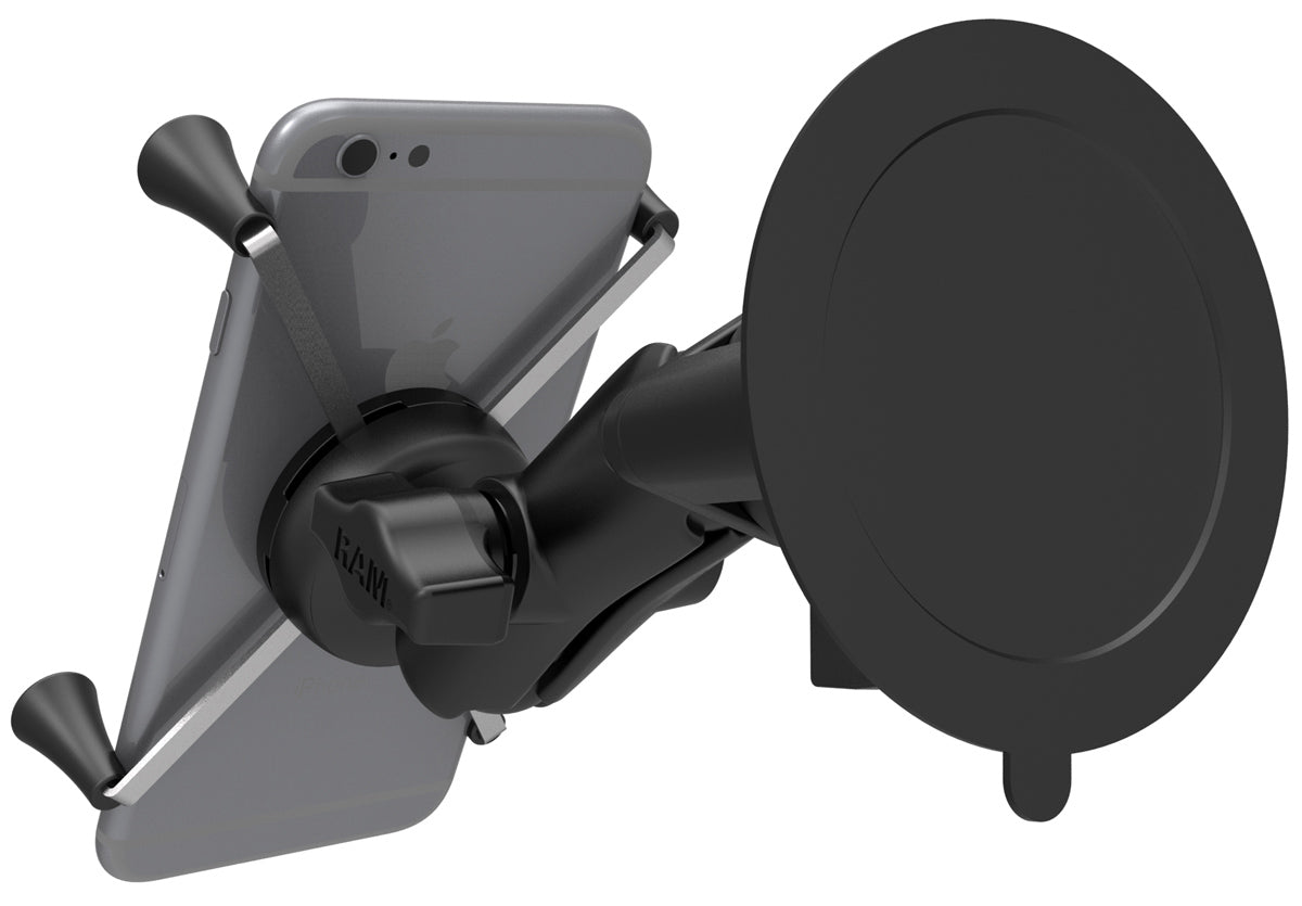 RAM-B-166-UN10 RAM X-Grip Heavy Duty Suction Windscreen Mount for Galaxy Note 4 (sku 35545)