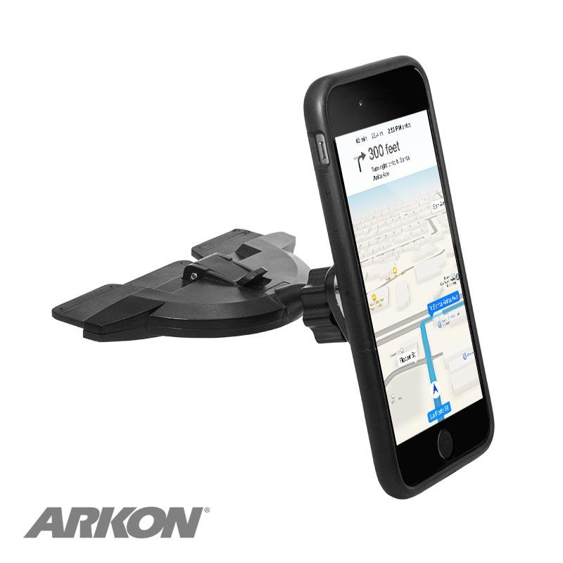 Arkon CDIBMAG Magnetic Phone Car CD Slot Mount Holder for iPhone 11, XS, XR, X, 8, Galaxy S10, Note 9 (sku 50500) - BuyBits Ltd UK